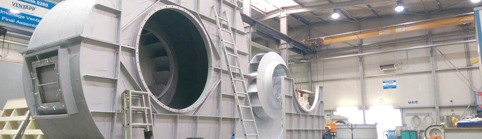 Fabrikationsprogramm der Ventapp GmbH, Kempen - Ventilatoren, Industrieklappen, Apparatebau / Blechfertigung