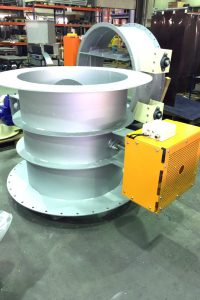 shut-off damper with special dimension